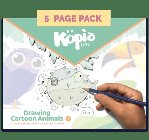 Drawing Cartoon Animals How to Draw Kopiography Kopiographic Practice