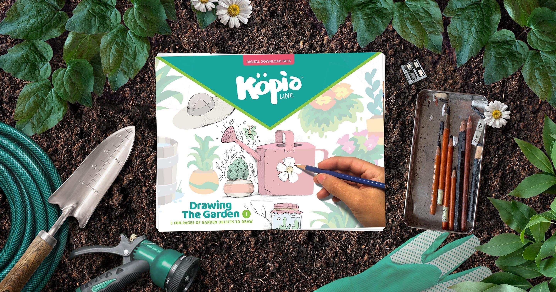 Drawing Garden Objects Kopiography Köpialine Kopiographic Practice Draw How To